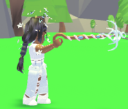 Player holding the Magic Wand Grappling Hook