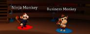 Ninja Monkey and Business Monkey NPC