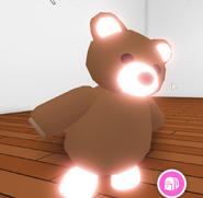 A neon brown bear