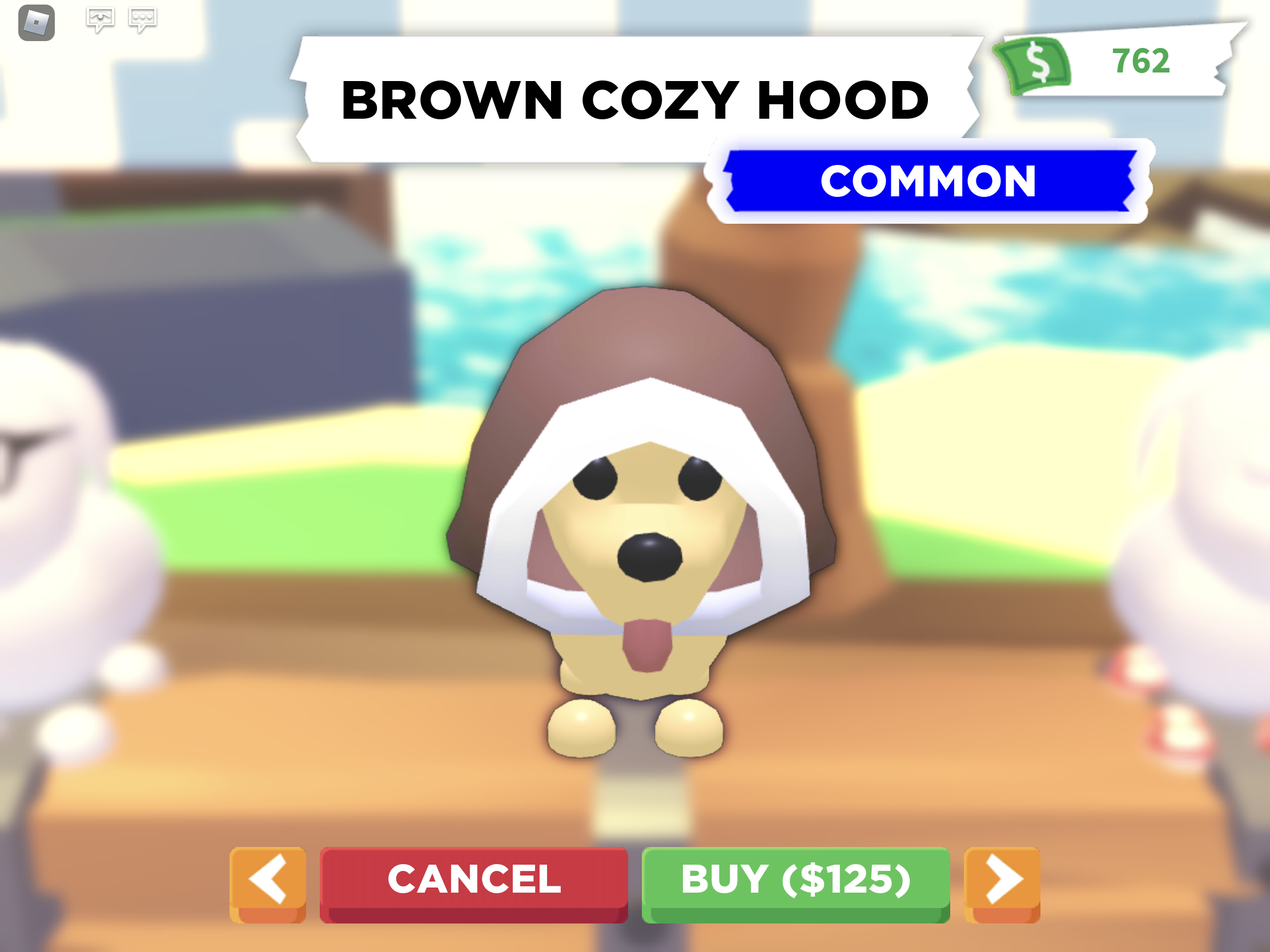 Brown Cozy Hood