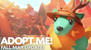 Adopt Me!'s cover image during the Fall Map Update.