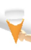 White Ice Cream in a Cone.