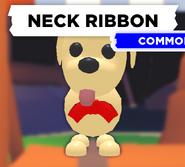 Neck Ribbon on Dog