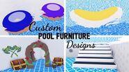9 Custom POOL FURNITURE Design Ideas & Building Hacks (Roblox Adopt me) Its SugarCoffee