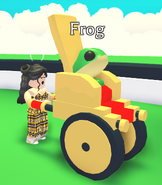 A player using the Throne Stroller