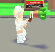Player holding cactus grappling hook