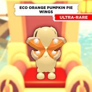 Eco Orange Pumpkin Pie Wings on a Dog