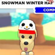 Snowman Winter Hat as seen on a Dog