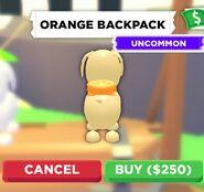 The Orange Backpack on a Dog