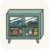 Lounge Cabinets GreenGlassCabinet.png