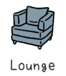 Adorable Home Lounge Icon