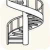 Lounge Stairs WhiteSpiralStair.png