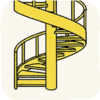Lounge Stairs YellowSpiralStair.png
