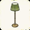 Lounge Lamps GreenRetroLamp.png