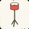 Lounge Lamps RedFloorLamp.png