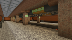 Station platform, February 2016