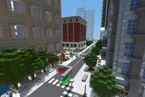 Myrtle Avenue at the Marigold Building in City Center heading south, November 2014