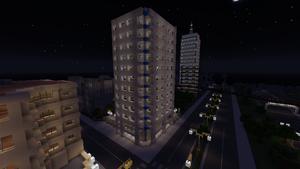 FG Building at night, January 2014