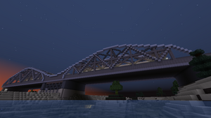 First Assembly Bridge at night, July 2016