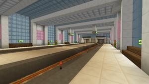 Platform on opening day, 19 January 2014