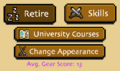 Charsheet - Retire, Skills, University Courses, Change Appearance, Avg Gear Score.png