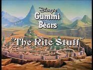 The Rite Stuff Title Card