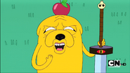 S1e4 Jake with Apple on head