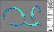 Modelsheet ladyrainicorn - underwatercolor