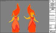 Modelsheet flameprincess- firepalacecolor