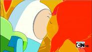 S4e16 Finn and Flame Princess kiss