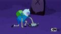 S1e1 finn pushing zombie into hole