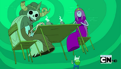 S4 E18 PB having coffee with the Lich