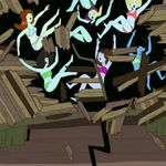 Bikini babes falling from treehouse roof.png