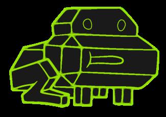 Лягушка из видеоигры