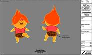 Modelsheet flameprincess baby