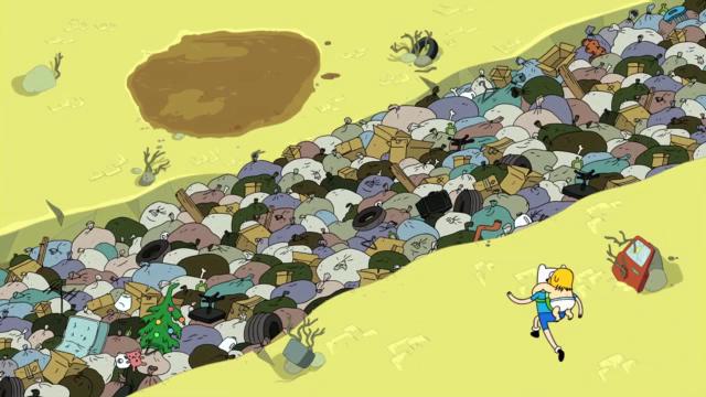 Река мусора