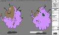 Modelsheet Lumpy Space Princess - Monster Form