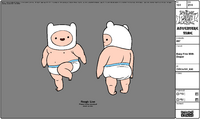 Modelsheet Baby Finn with Diaper