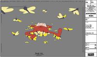 Modelsheet Finn in PJs Carried by Butterflies - B