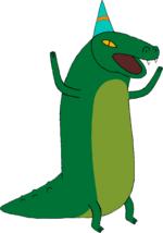 Crocodile with party hat.png