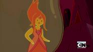Flame Princess glaring.