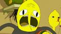 S4e20 Worried Lemongrab screaming closeup