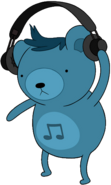 Dj Bear with headphones