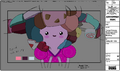 Modelsheet Young Princess Bubblegum with Candy Pieces - Blushing