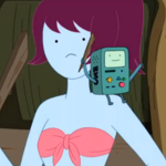 S5 e20 BMO on one of the bikini babe's shoulder.PNG