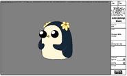 Modelsheet penguin withflower