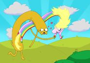 Adventure time jake and lady r by nissemann123456789-d3fngim