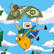 Finn and Jake with a Dollar