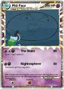 Phil Face Pokemon card