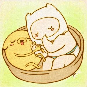 Baby finn and jake from adventure time by xxlostxkittenxx-d4r7sk1.jpg